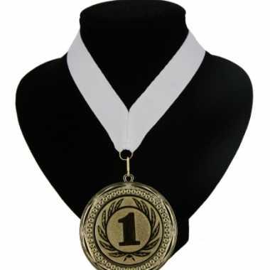 Medaille nr. 1 halslint wit