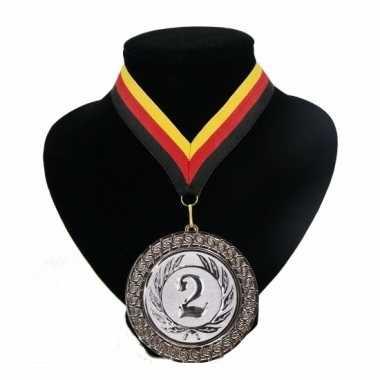 Medaille nr. 2 halslint rood geel zwart