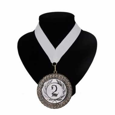 Medaille nr. 2 halslint wit