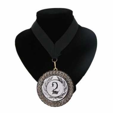 Medaille nr. 2 halslint zwart