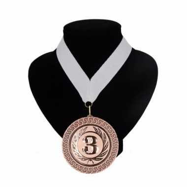 Medaille nr. 3 halslint wit