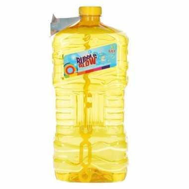 Mega bellenblaas fles geel 3l