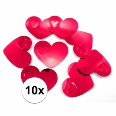 Mega confetti rode hartjes versiering