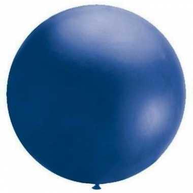 Mega party ballonnen blauw 90 cm