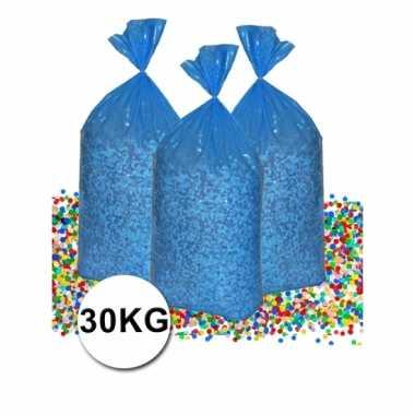 Mega zak confetti 30 kg gerecyclede kranten