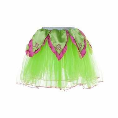 Meisjes ballet rokje groen/roze