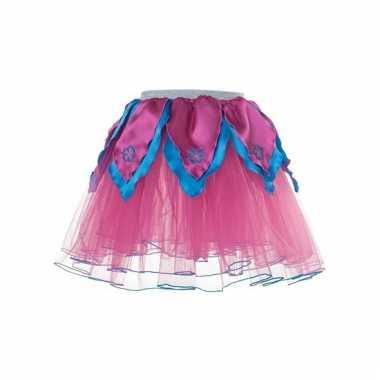 Meisjes ballet rokje roze/blauw