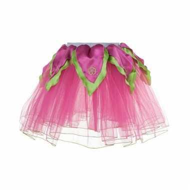 Meisjes ballet rokje roze/groen