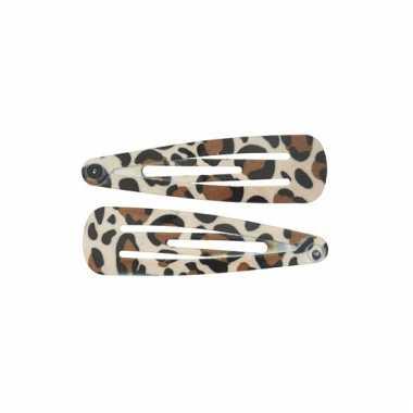 Meisjes haarspeldjes luipaard