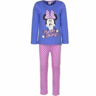 Meisjes pyjama minnie mouse violet