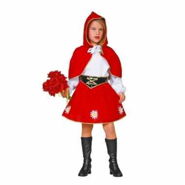 Meisjes roodkapje carnavalskleding