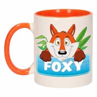 Melk mok / beker foxy 300 ml