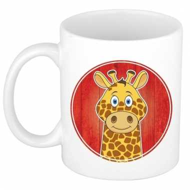 Melk mok / beker met giraffes print 300 ml