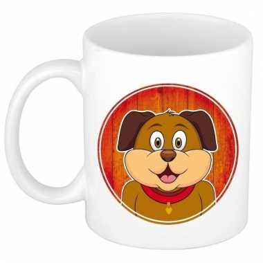 Melk mok / beker met honden print 300 ml