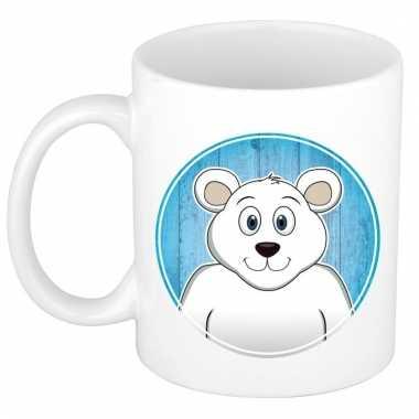 Melk mok / beker met ijsberen print 300 ml