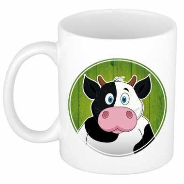 Melk mok / beker met koeien print 300 ml