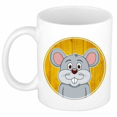 Melk mok / beker met muizen print 300 ml