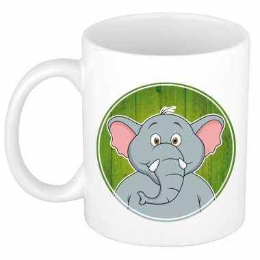 Melk mok / beker met olifanten print 300 ml