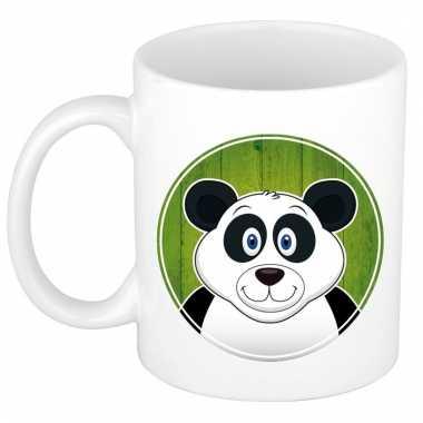 Melk mok / beker met panda print 300 ml