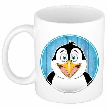 Melk mok / beker met pinguins print 300 ml