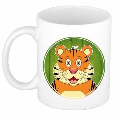 Melk mok / beker met tijgers print 300 ml