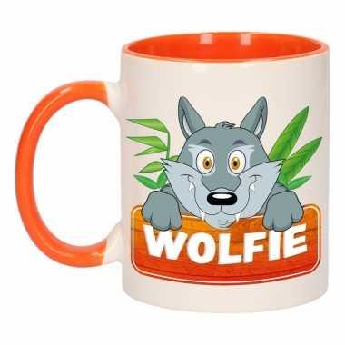 Melk mok / beker wolfie 300 ml