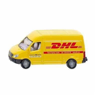 Mercedes dhl bestelwagen geel speelgoed 1085 siku