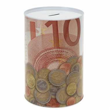 Metalen spaarpot 10 euro