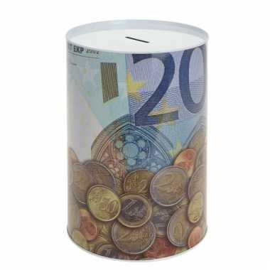 Metalen spaarpot 20 euro