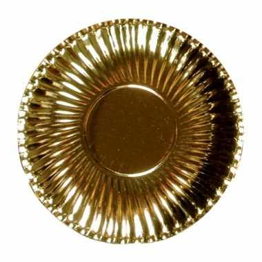 Metallic gouden barbecue borden 23 cm