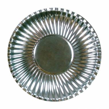 Metallic zilveren barbecue borden 23 cm