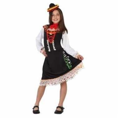 Mexicaanse mariachi lange jurk voor meiden