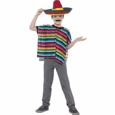 Mexicaanse poncho en sombrero kind