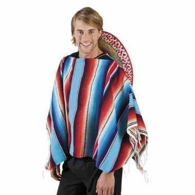 Mexicaanse verkleed kleding poncho