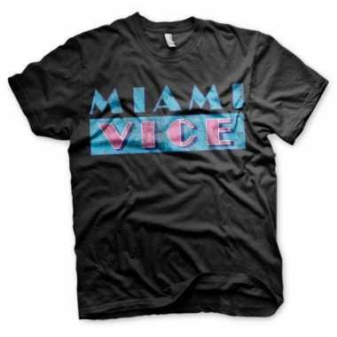 Miami vice logo kleding heren shirt