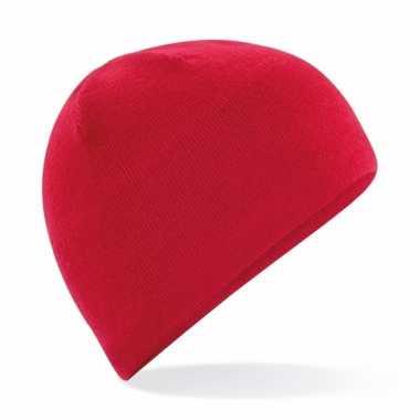 Microfleece sportmuts rood voor heren