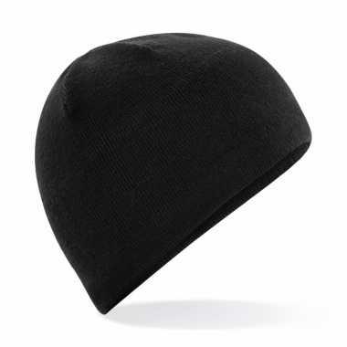 Microfleece sportmuts zwart voor dames