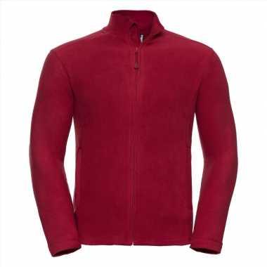 Microfleece vest rood voor heren