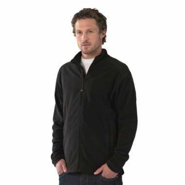 Microfleece vest zwart voor heren