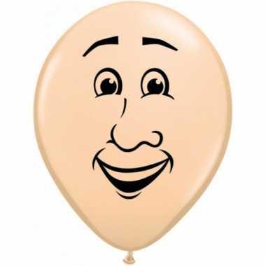 Mini ballonnetje met mannen gezicht 13 cm