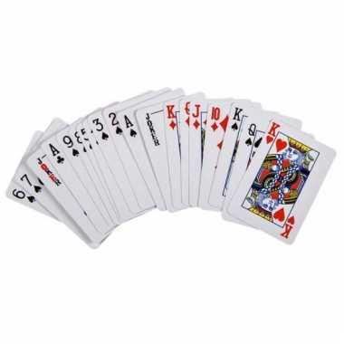 Mini poker kaartspel 6 cm