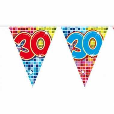 Mini vlaggenlijn met leeftijd 30