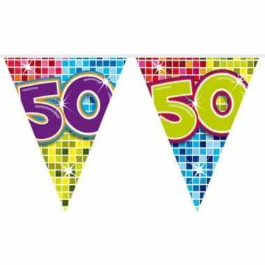 Mini vlaggenlijn met leeftijd 50