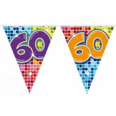 Mini vlaggenlijn met leeftijd 60