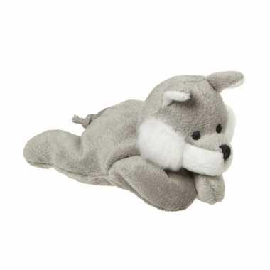 Mini wolven knuffels 13 cm