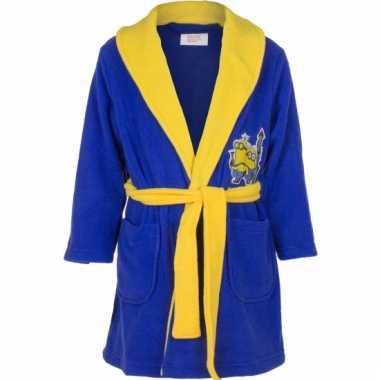Minions fleece badjas donkerblauw
