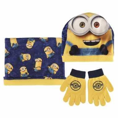 Minions handschoenen/sjaal/muts voor kinderen