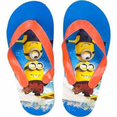Minions kids slippers blauw/oranje