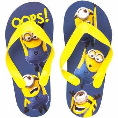 Minions kids slippers oops! blauw/geel