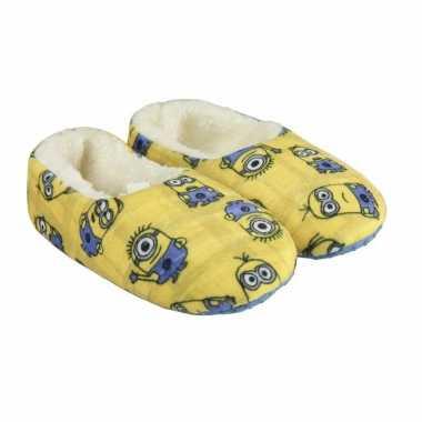 Minions pantoffeltjes/slofjes kevin/dave/tim geel voor meisjes